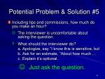 potential problem solution 5