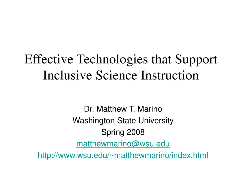 effective technologies that support inclusive science instruction l.