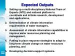 expected outputs