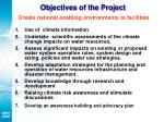 objectives of the project create national enabling environments to facilitate