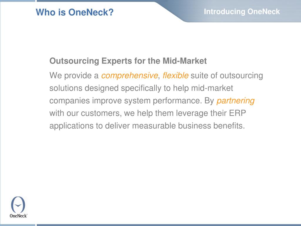 Introducing OneNeck