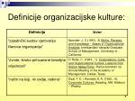 definicije organizacijske kulture