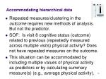 accommodating hierarchical data