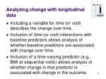 analyzing change with longitudinal data26