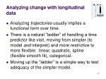 analyzing change with longitudinal data27