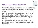 introduction hierarchical data