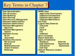 key terms in chapter 7