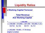 liquidity ratios21
