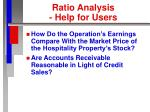 ratio analysis help for users4