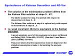 equivalence of kalman smoother and 4d var