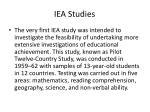 iea studies