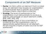 components of an s p measure