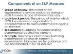 components of an s p measure35