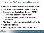how are s p measures developed