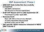 snp assessment phase i