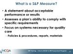 what is a s p measure