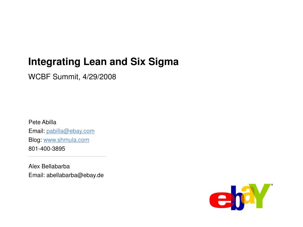 integrating lean and six sigma l.