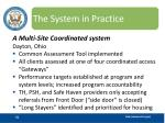 the system in practice31