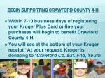 begin supporting crawford county 4 h