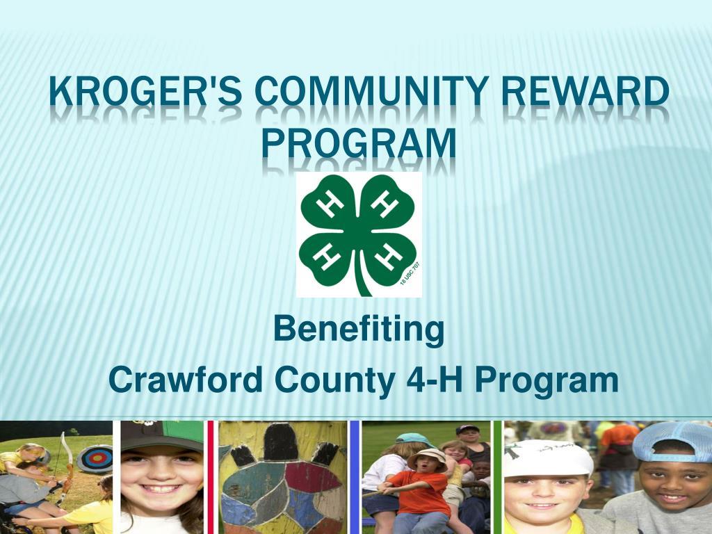 benefiting crawford county 4 h program l.