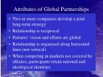 attributes of global partnerships
