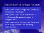 characteristics of strategic alliances