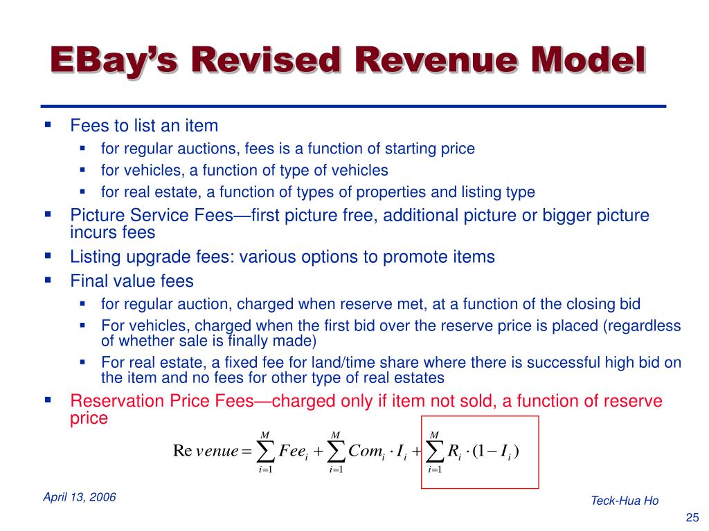 EBay's Revised Revenue Model