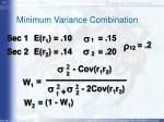 minimum variance combination