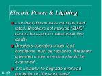 electric power lighting