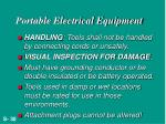 portable electrical equipment