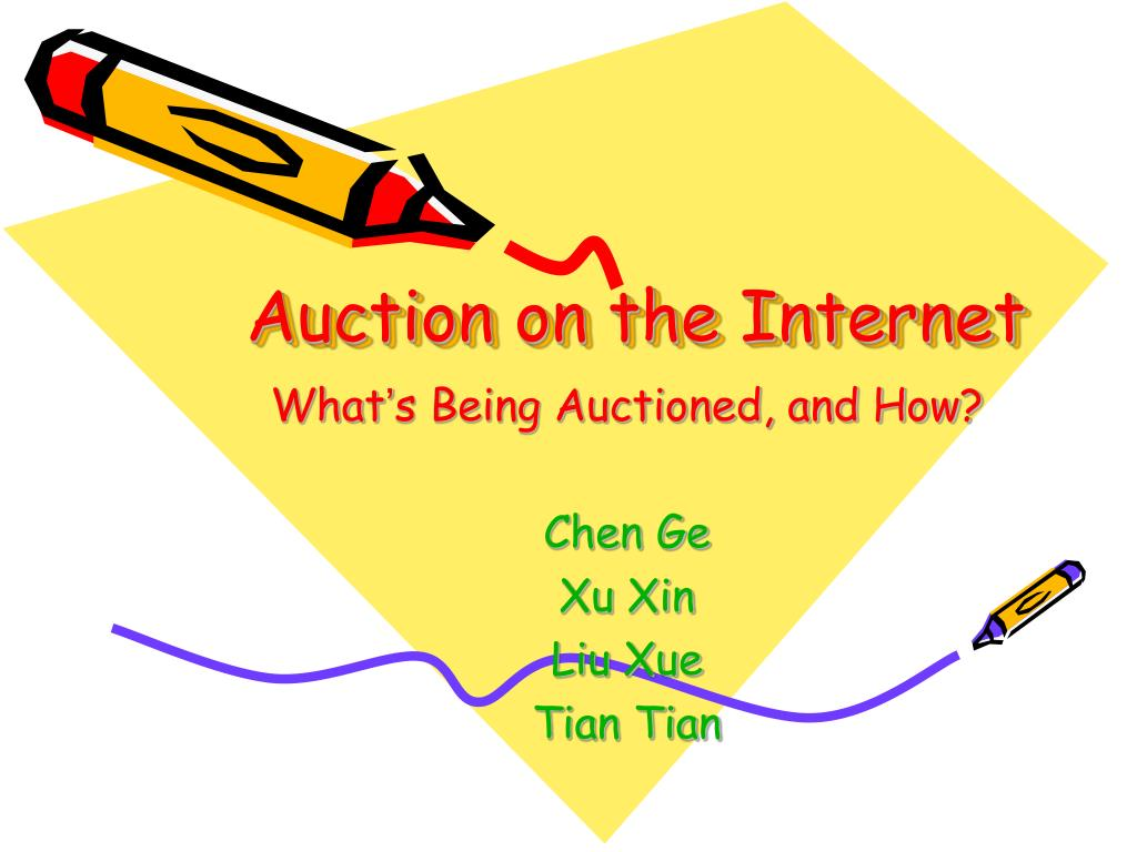 auction on the internet l.