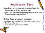 auctioneers fees