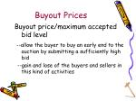 buyout prices