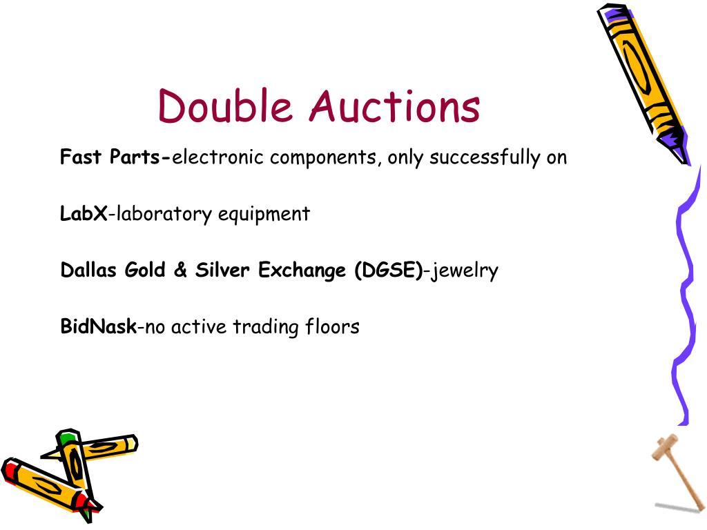 Double Auctions
