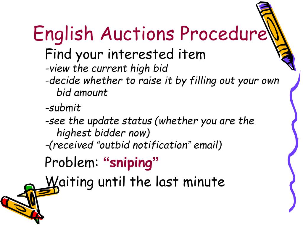 English Auctions Procedure