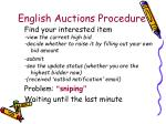 english auctions procedure