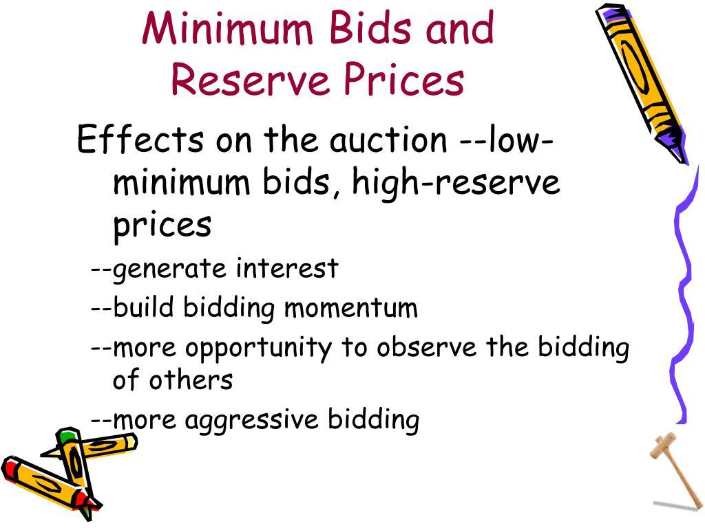 Minimum Bids and Reserve Prices