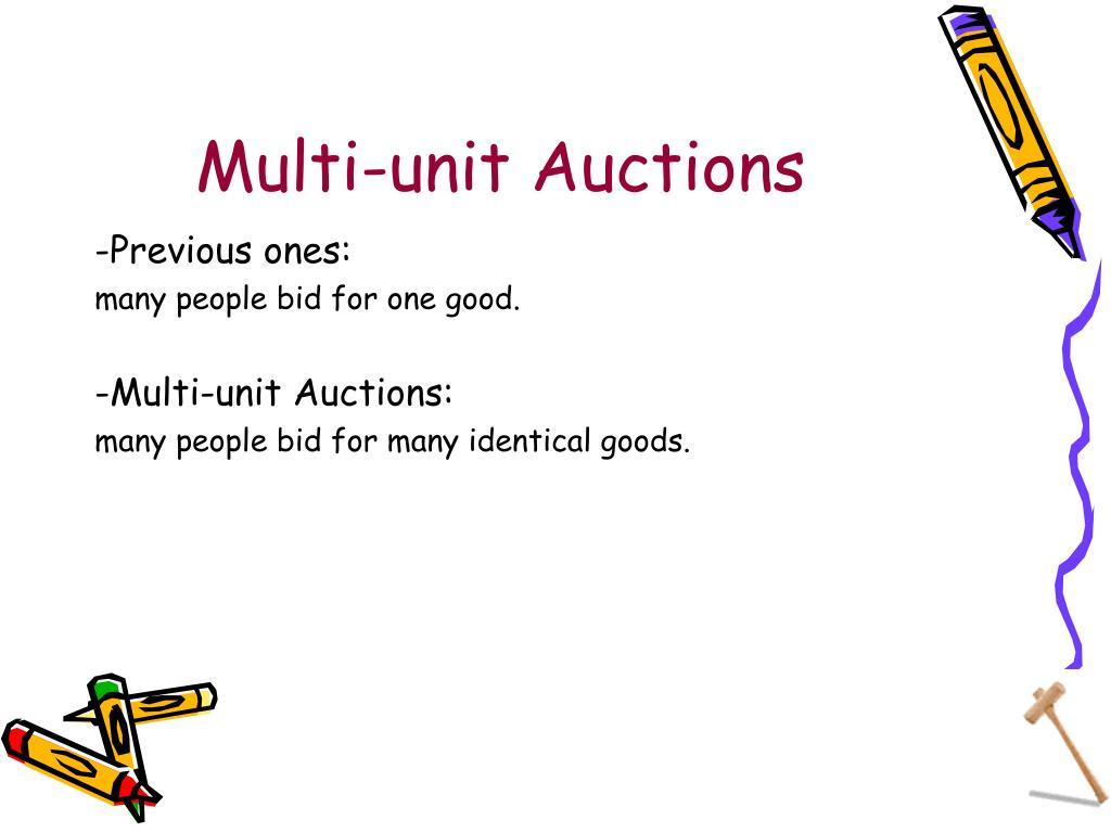 Multi-unit Auctions