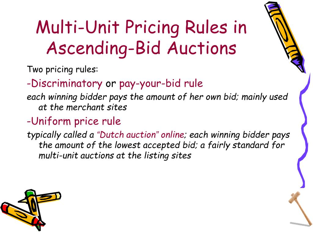 Multi-Unit Pricing Rules in Ascending-Bid Auctions