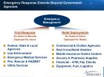 emergency response extends beyond government agencies