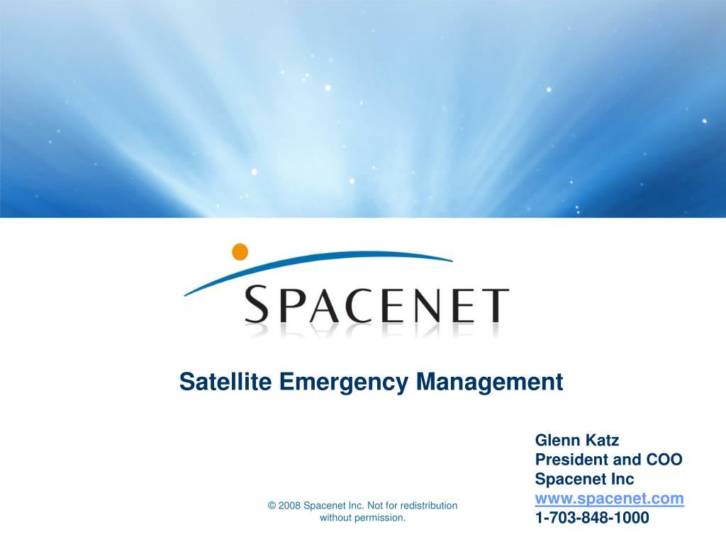 satellite emergency management l.