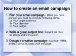 how to create an email campaign