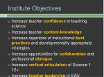 institute objectives