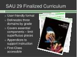 sau 29 finalized curriculum