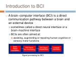 introduction to bci