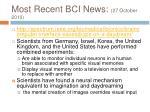 most recent bci news 27 october 2010