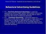 behavioral advertising guidelines47
