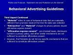 behavioral advertising guidelines53