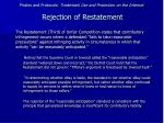 pirates and protocols trademark use and protection on the internet rejection of restatement