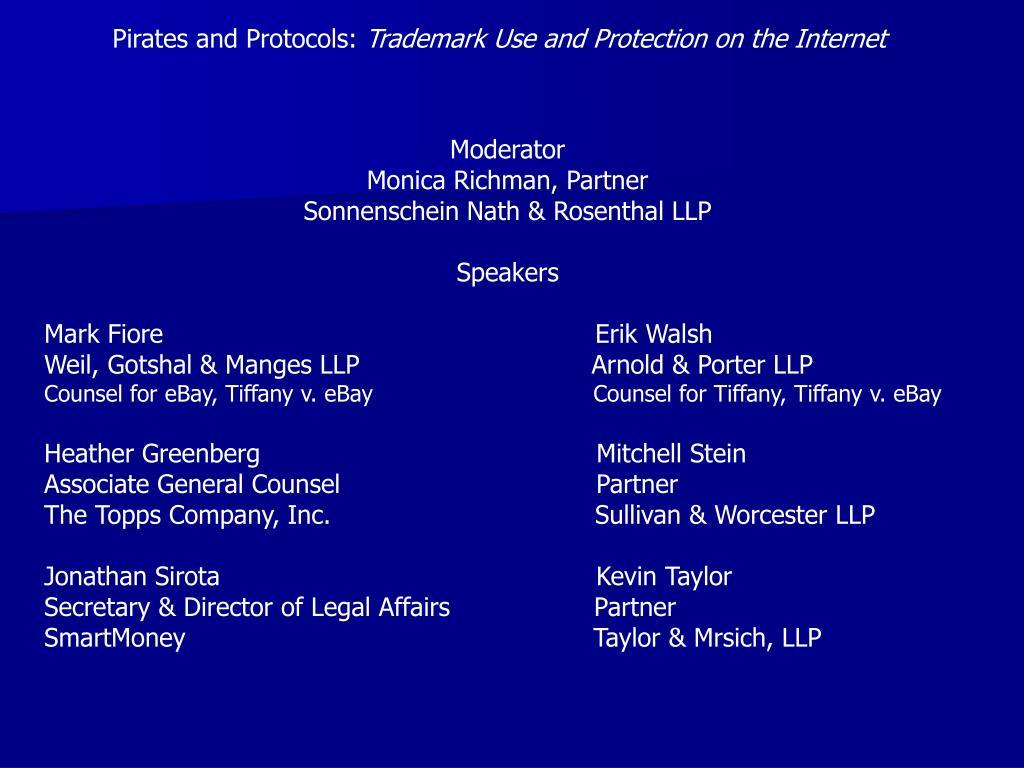 Pirates and Protocols: